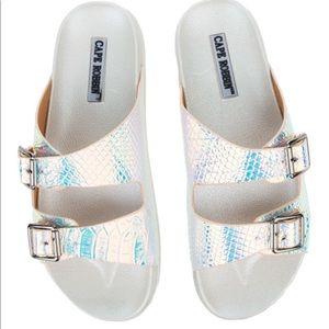 Cape Robbin White Sandals